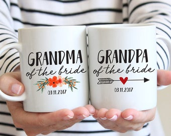 Grandma Of The Bride Mug, Gift From Groom, Mother Of The Groom, Grandpa Of The Bride Gift, Gift From Bride, Grandparents Of The Bride