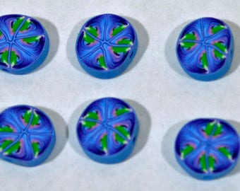 Polymer Clay Beads - Set of Six