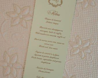 Beautiful Wedding Menus, Luxurious Wedding Menus, Lace Wedding Menus, Beautiful Menus, Lace Menus, Luxurious Menus, Custom Wedding Menus