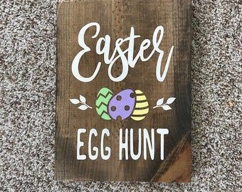 Easter Egg Hunt wood sign