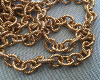 Vintage Brass Textured High Quality Chain