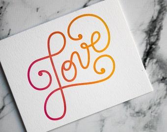 I Love You Card   Valentines   Cards for Her   Cute love you card   Boyfriend Card   Cute anniversary Card    Wedding Day Card   XOXO