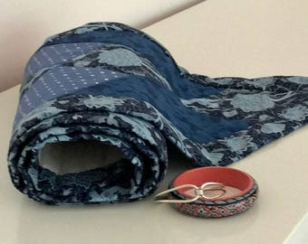 Quilted Table Runner in Blue