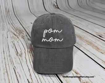 pom mom hat, cheer mom hat, pom mom, cheer mom, cheerleader mom, i love my cheerleader, cheer hat, pom hat, pom mama, Pomeranian dog