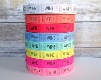 100 Wine Tickets, Wedding Reciption Drink Tickets, Pick Your Color, Beverage Tickets, Party Supplies