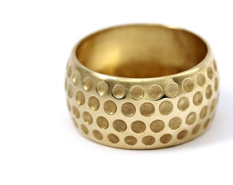 14k Golf Ball Ring,Mens wedding band, Textured Dimple Pattern Band, golf wedding ring, golf gift, promise rings for men, golf ball,mens ring