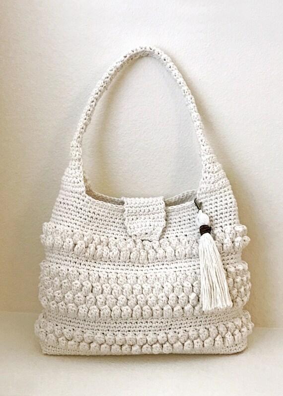 Crochet Bag With Tassel Pattern Easy Crochet Purse
