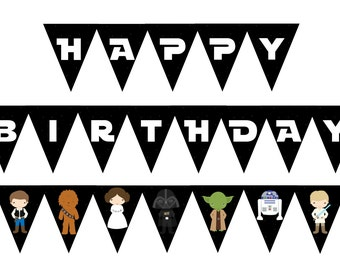 Star Wars Birthday Banner < Star Wars Birthday Party < Star Wars Decor < Star Wars Party < Han Solo < Darth Vader < DIY Star Wars Party