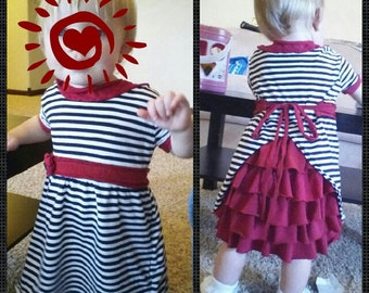 "Baby Girl Dress, ""mullet dress"", Ruffle Bum"