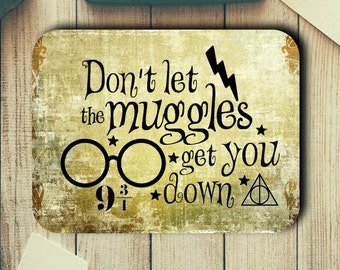 Harry Potter Quote Muggles Mouse Pad Easy Glide Non Slip Tough Neoprene Mousepad