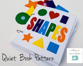 PDF PATTERN: SHAPES quiet book/felt book/busy book