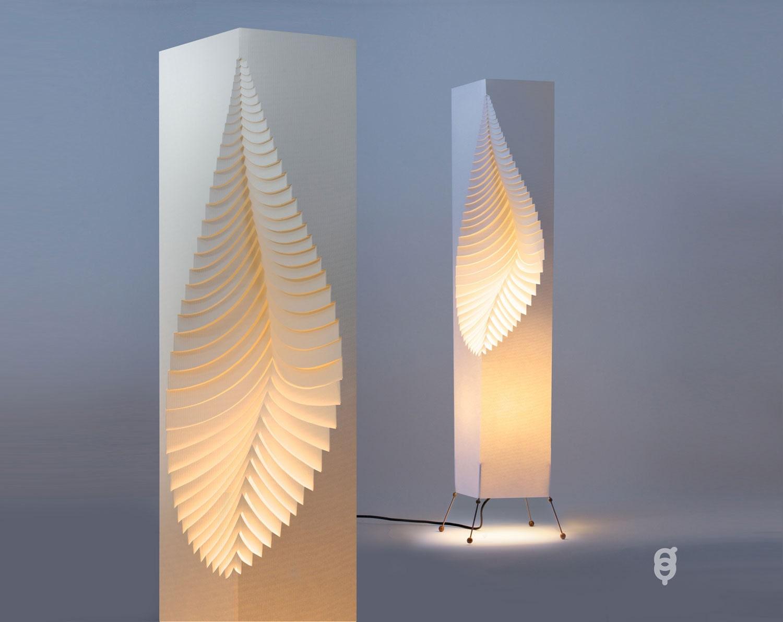 Blatt Papier Designleuchte Draht-stand