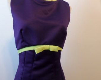 Vintage Audrey Hepburn Style Dress Purple