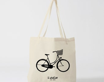 X406Y Tote bag bike, bag canvas tote bag, handbag, shopping bag, shopping bag, cotton bag, computer bag, diaper bag