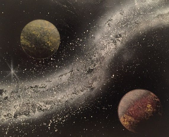 star current 16x20 spray paint on poster board