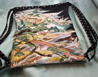 Fabric  Drawstring Backpack