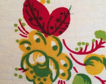 Set of 6 Vibrant Vintage Tea Towels