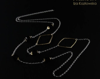 Quadri in oro - necklace with silver chain and spinel