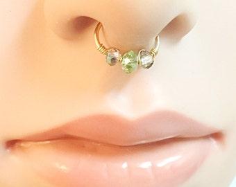 Fake Septum Ring Thin Septum Ring Fake Piercing Nose, Non Pierced Septum Jewelry Fake Septum Horseshoe Septum Fake Septum Hoop No Piercing
