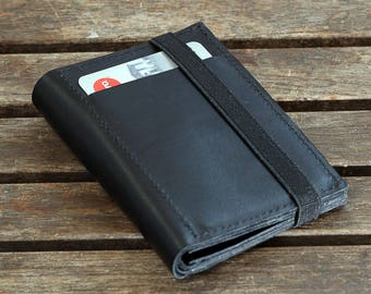 Black Leather Wallet,Portemonnaie, Leather Wallets For Men
