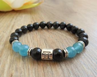 GEMINI zodiac bracelet birthstones june bracelet gemini bracelet gemini jewelry gemini gift him june birthstone jewelry june birthday gift