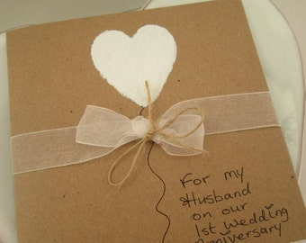Anniversary cards st wedding anniversary card for husband fresh