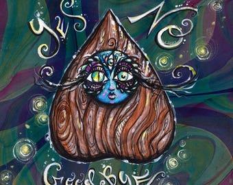 Ouija Goddess original acrylic painting