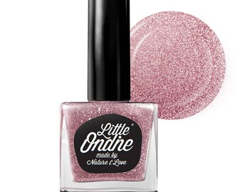 Little Ondine Natural Non-toxic Water-Based Quick Dry Fingernail Lacquer Peel off Nail Polish 10.5ml ( L023-Butterfly Effect)Glitter Purple