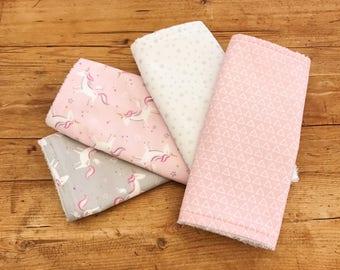 Large Burp Cloths, Baby Burp Cloth, Unicorn print Burp Cloths, Burp Cloths Bundle, New Baby Gift, Baby Shower Gift