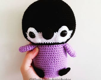 Danny the Penguin. Made to order crochet cuddle sized friend