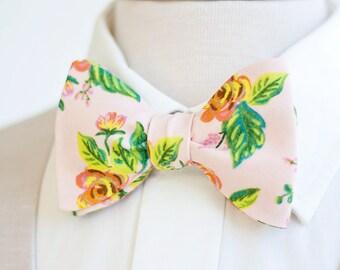 Bow Ties, Bow Tie, Bowties, Mens Bow Ties, Freestyle Bow Ties, Self-Tie Bow Ties, Groomsmen, Wedding Ties, Ties - Jardin De Paris Peony