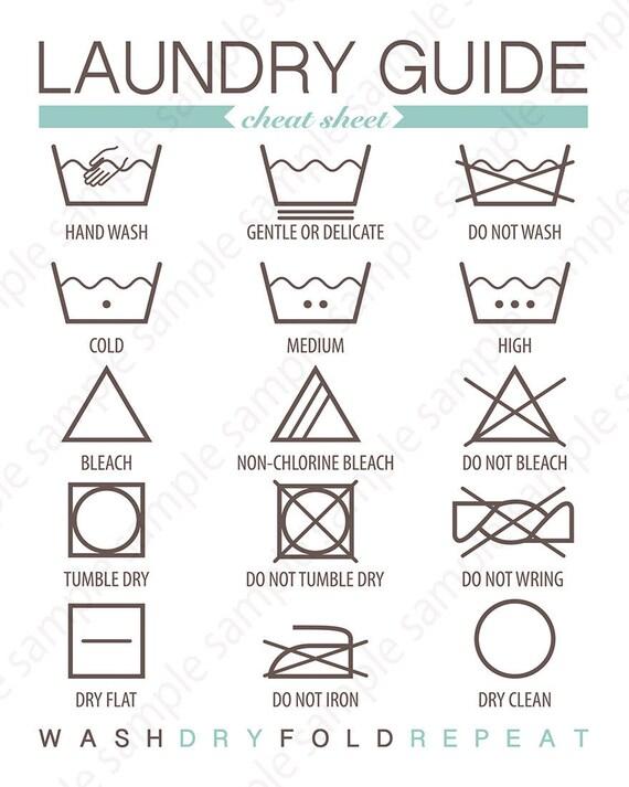 Housekeeping Laundry Symbols Room Decor Laundry Sign Washing