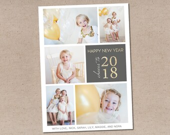Cheers to 2018: Holiday Photo Card