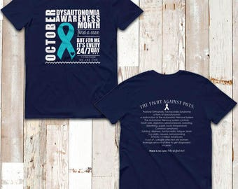 YOUR COLOR October Dysautonomia/POTS Awareness Month Facts Two Sided Shirt