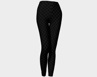 Gray Fishnet Goth Leggings