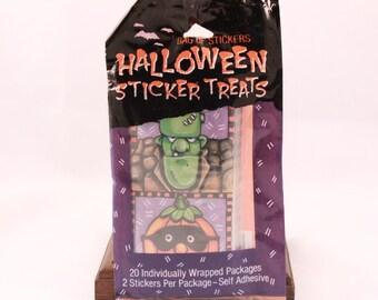 Vintage Halloween autocollant traite. 20 emballés individuellement paquets/2 autocollants par paquet