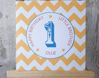 1, First birthday, one, 1st, happy birthday, celebration, son, daughter, brother, sister, personalised birthday card