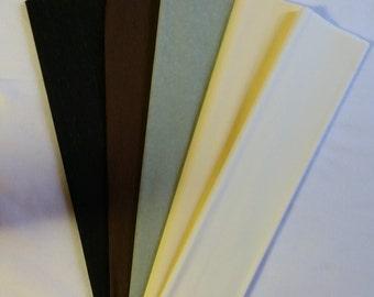 BLACK Crepe Paper, Dennison Crepe Paper, Flower Making Paper, Paper Flowers, Wedding Flowers, Mexican Paper Flowers, DIY Paper Flowers