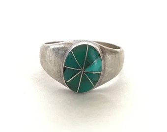 Malachite Starburst Ring Size 9