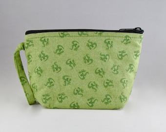 Green OMantra Makeup Bag - Accessory - Cosmetic Bag - Pouch - Toiletry Bag - Gift