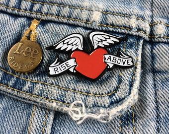 Enamel Pin Badge 'Rise Above'