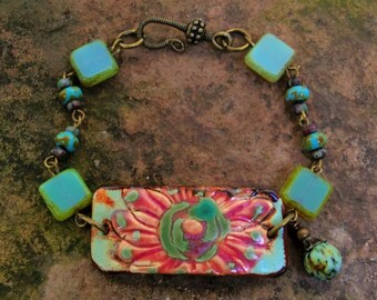 Handmade Bohemian Floral Bracelet