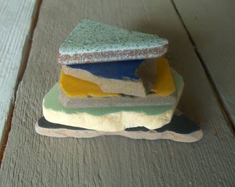 Craft Sea Pottery Pieces  Ceramic Mosaic Tiles   Beach Pottery Genuine Beach Finds For Mosaic Making Large Shards Mix Color