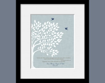 Personalized Thank You Gift, Roots and Wings Quote, Parent's Thank You Gift, Bride's Parent Gift, Groom's Parent Gift, Wedding Tree Print