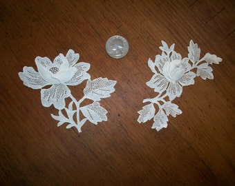 1-1920s antique lace applique rose