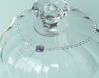 Choker the Amethyst and silver Sterling