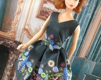 "NEW! BLACK ""Cut and Sew"" Belle dress by Marirose for Barbie"