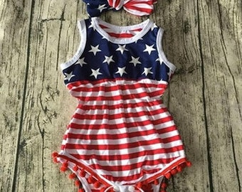 Fourth of July Romper