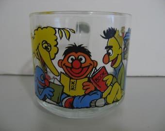 Vintage 1970's Anchor Hocking - Sesame Street -  Muffets Mug!