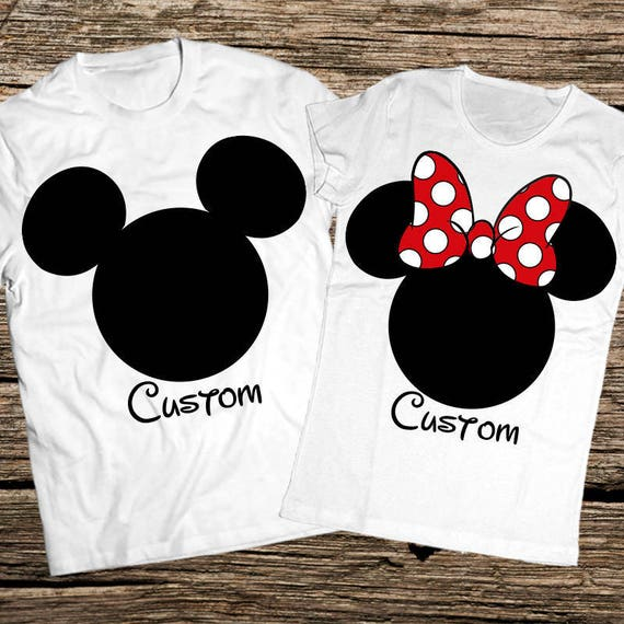 Mickey And Minnie Couples Shirts Mickey and Minnie shir...